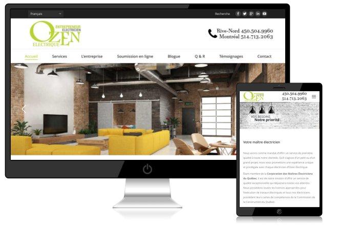 Site web électricien