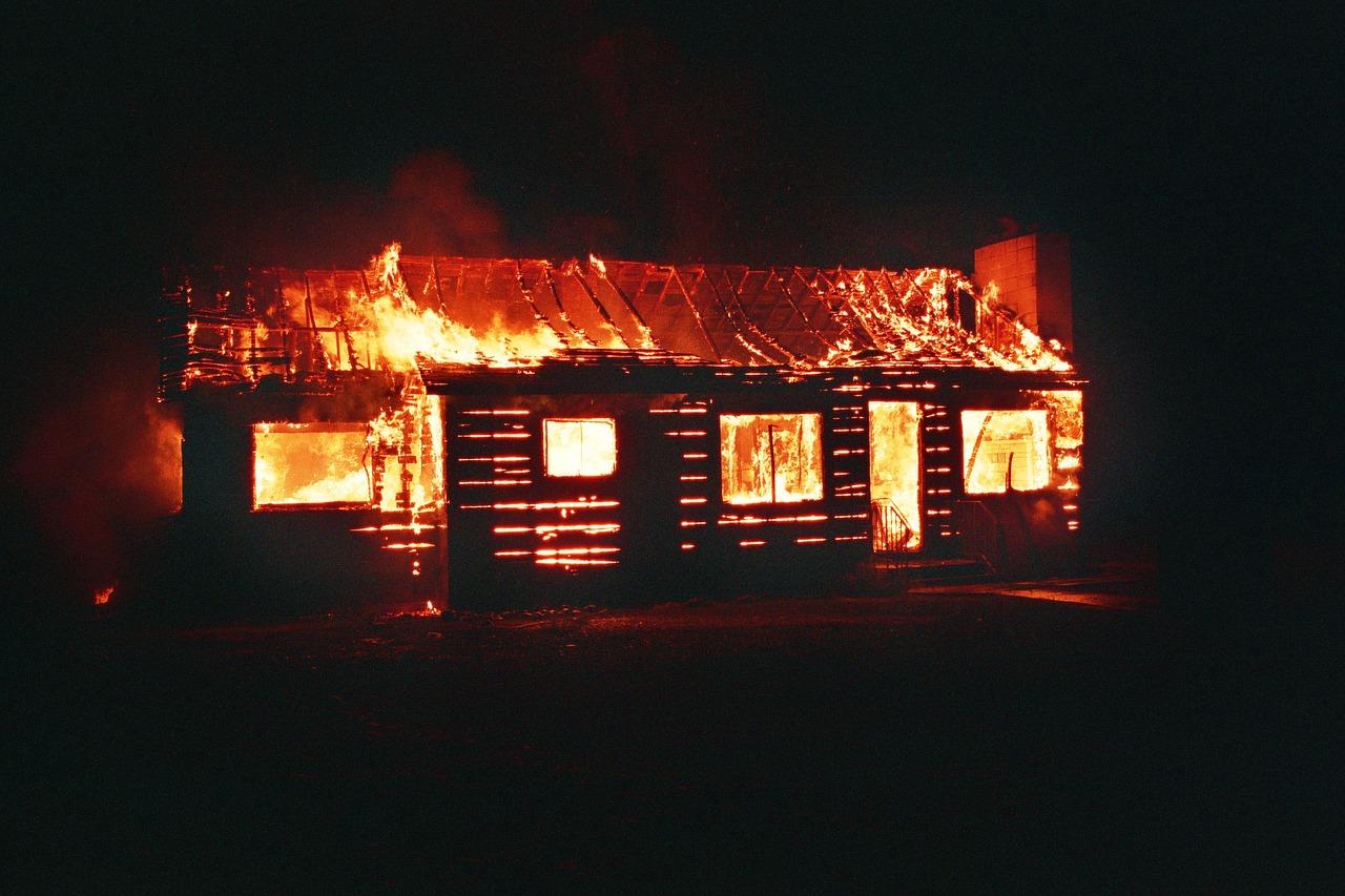 incendie de maison